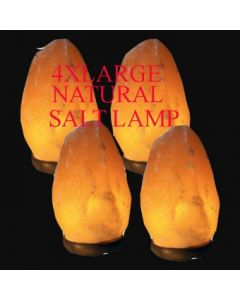 4xLARGE NATURAL CRYSTAL SALT LAMP 4-5KG