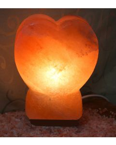 Heart Shaped Hand Carved Himalayan Rock Salt Lamp, Ionic Air Purifier 2 TO 3KG