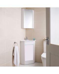 400mm Corner Vanity 400x400mm Ceramic Basin