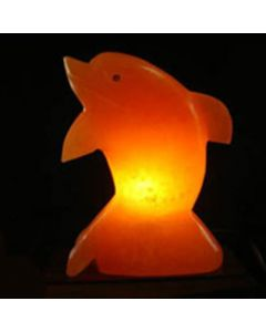 Himalayan SALT LAMP Rock Crystal DOLPHIN Unique Ionizer