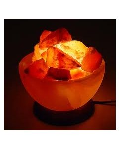 Himalayan Rock Crystal Salt Lamp In The Shape Of Fire Bowl