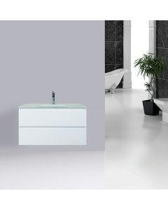 VANITY BATHROOM 900MM WALL MOUNT UNIT WHITE NEW