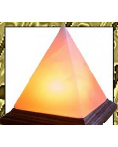 HIMALAYAN ROCK CRYSTAL SALT LAMPS WITH A PYRAMID SHAPE (UNIQUE IONIZER)