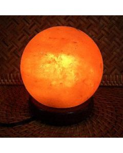 Rock Salt, Round Shaped, Unique Ionizer Himalayan Crystal Lamp!