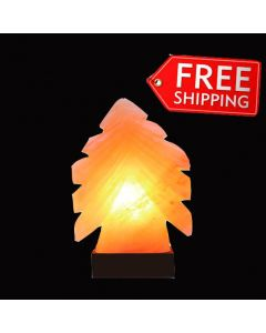SALT LAMP ROMANTIC TREE SHAPE HAND CRAFTED IONIC AIR PURIFY CORD & SWITCH