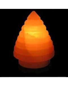 Himalayan SALT LAMP Rock Crystal X'MAS TREE Unique Ionizer